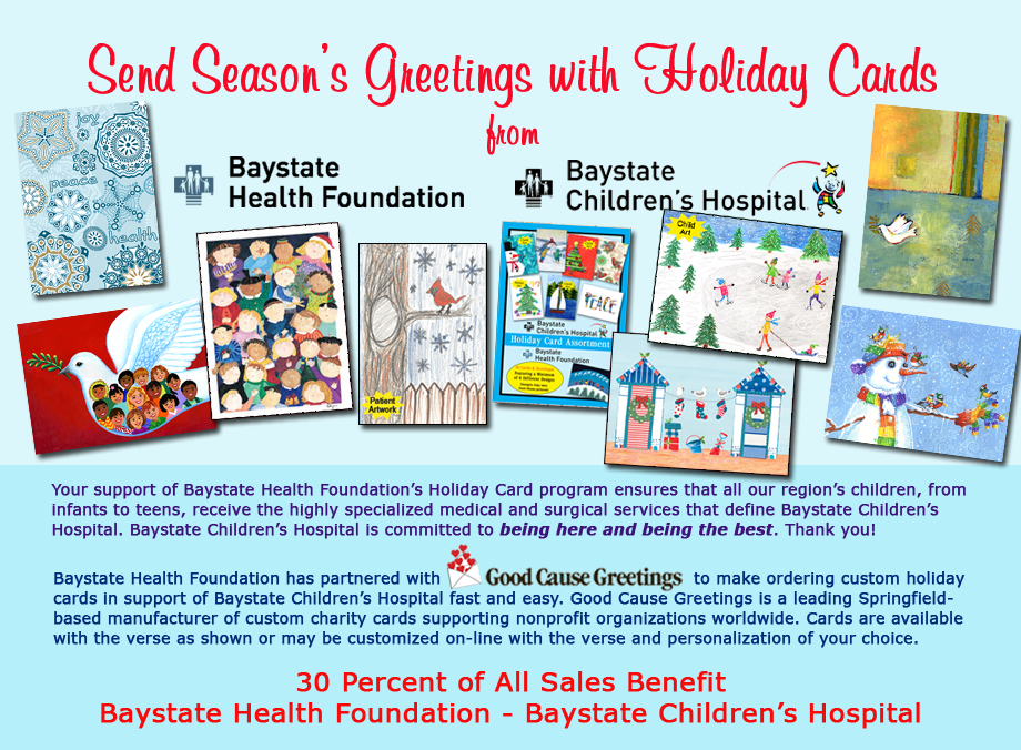 baystate childrens hospital holiday card program - Holiday Cards For Charity