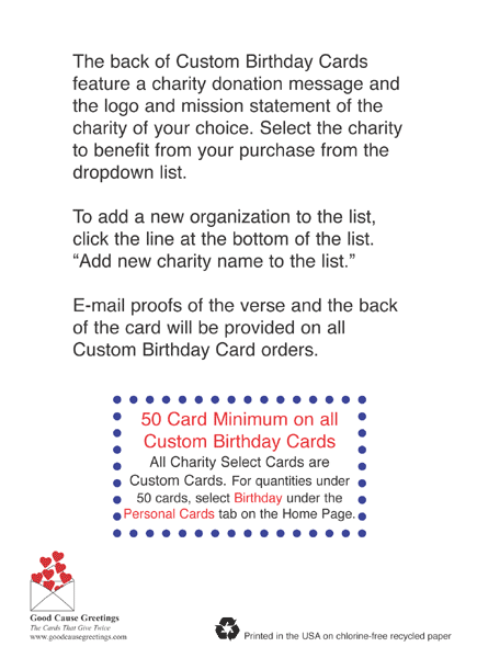Corporate Birthday Card Supporting The Charity Of Your Choice