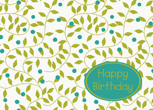 corporate birthday cards supporting the charity of your choice, Birthday card