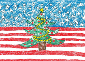 view full size image - Patriotic Christmas Cards