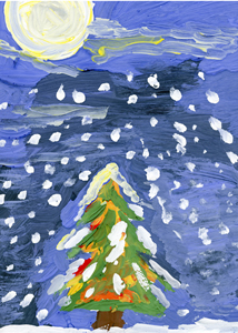 A Might Tree Charity Christmas Card Supporting St Louis Children S Hospital